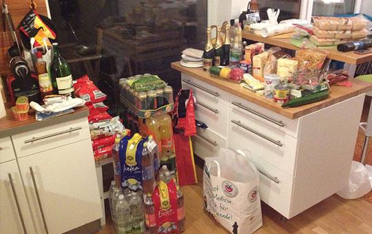 party-vorbereitungen